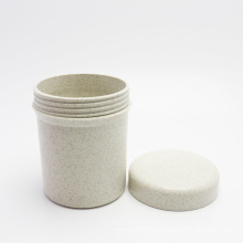 Private label 250g wheat straw cosmetic container cosmetic jar facial cream packaging jar PLA-145AN