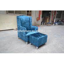 Comfortable single sofa with stool XYN464