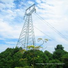 220 kV Single Circuit Owl-Type Angle Power Transmission Steel Tower
