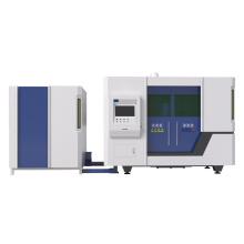 Máquina de corte a laser de fibra com mesa de troca