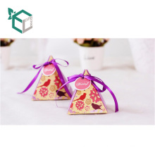 Wholesale Beautiful Printing Triangle Type Top Grade Paper unique Design Food Box Packaging