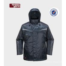 Men's windproof coat security features Workwear parka in plus size jacket