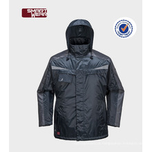 Recursos de segurança de casaco à prova de vento dos homens Workwear parka no casaco plus size