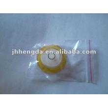 High precision acrylic round level vial