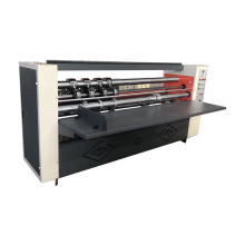 Thin blade longitudinal cutting line pressing carton machine