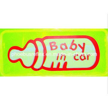 15cm X 5cm Baby in Car High Visibility Sticker En13356
