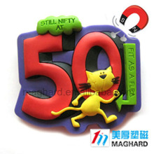 3D Soft PVC Magnet with pins