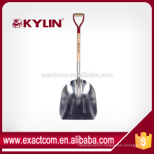 #12 ALUMINUM SCOOP GARDEN SHOVEL WITH ASH D- HANDLE