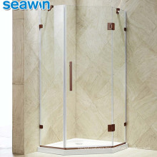 Seawin Manufacture Pivot Hinge Enclosed 10mm Tempered Glass Cabin Shower Door