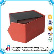 Caja de joyería magnética de embalaje de cartón de alta calidad