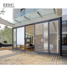 Fenêtre en alliage d'aluminium coulissante spéciale de couleur marron