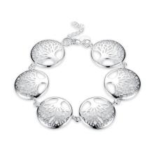 Mode Leben Baum Fünf Baum Form Anhänger Armband Silber überzogen Schmuck Geschenk