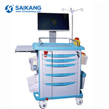 SKR054-WT Durable Functional Workstation ABS Ambulance Medicine Delivery Trolley