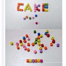 Letra de madera del alfabeto Beads / Cube Alphabet Letter Beads