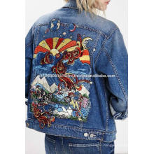 high fashion embroidered jeans jacket for sale from pakistan GREAT GILLS INCORPORATION