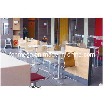 Venta al por mayor moderna de muebles de restaurante de comida rápida mesa y silla (FOH-XM60)