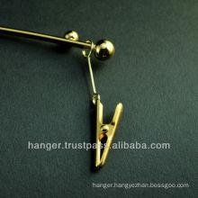 Japanese Metallic Lingerie Hanger with Clips for Elegant Evening Dress