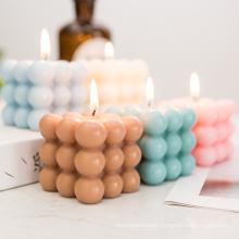 Custom Wholesale 160g Cute Bubble Cube Mold Soy Wax Scented Candles