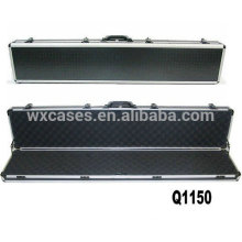 rounded aluminum rifle case with foam inside from China factory wholesales
