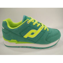 Women Athletic Lace up Green Gym Shoes