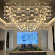 modern design acrylic ceiling pendant lamp chandelier for hotel and home decoration