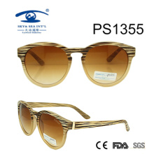 New Frame Color PC Round Style Sunglasses (PS1355)