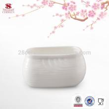 Wholesale ceramic household sugar bowl, white cheap sugar pot