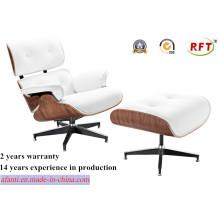 Muebles modernos de madera de cuero Eames Ocio Silla de salón (RFT-F5D)