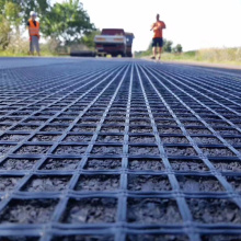 Best Quality fiberglass geogrid road construction material