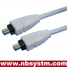 6 a 6 PIN IEEE 1394 FIREWIRE iLINK CABLE 6FT PC MAC DV