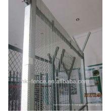 Clôture de sécurité galvanisée à chaud