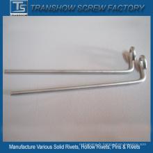 Goupilles de crochet de fil d'acier galvanisé