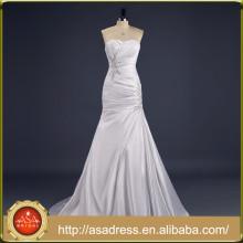 ASA-12 Real Photo Mermaid Vestidos de noiva de casamento de comprimento total 2015 Lace Up Sweetheart Neckline Strapless Imported Wedding Dress