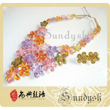 Creative Design High Quality Handmade Colored Diamond Jewelry Set