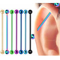 Titanium Anodized Industrial Barbell Tongue Ear Bars