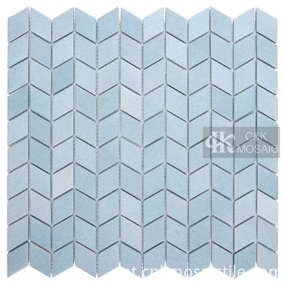 Blue Glass Mosaic Pool Tile