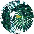 100% cotton plantain leaf super soft round beach towels