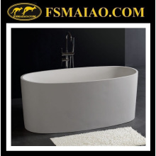 Ellipse Freestanding Bathtub in Solid Surface of White Color (BS-8610)