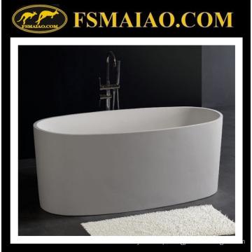 Banheira independente da elipse na superfície contínua da cor branca (BS-8610)