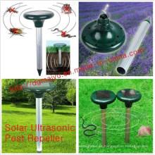 Repelente de topos electrónico con energía solar - Protector al aire libre