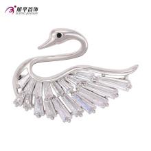 Xuping Mode Luxe Lively Swan Rhodium Cristaux De Swarovski Diamant Bijoux Broche -00008