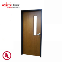 ASICO Double Leaf UL Listed 45 Minutes Fire Rated Wooden Exit Door For School