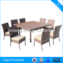 Square Table And 8 Seaters Stackable Chairs Garden Dining Set
