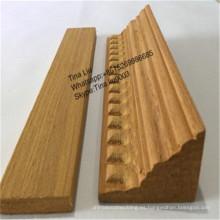 Moldura de madera de teca triangular