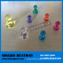 Popular Lapel Transparent Magnetic Pins Badges