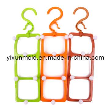 Molde de gancho multifuncional para cinto de plástico