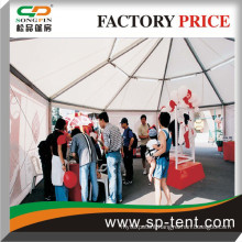 hexagon dome tent with luxury linings for wedding party events