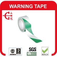 Ruban d'avertissement en PVC vert blanc