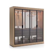 Hot Sale Plywood Glass Door Walk-in Modern Bedroom Wardrobe Closets