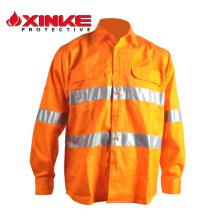 Camisas con botones de 100% algodón de alta visibilidad